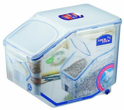 NEW Lock & Lock Rectangular Tapered Rice Case 12L with  Measuring Cup (HPL510)