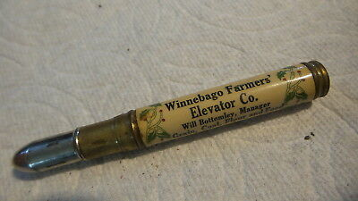 Vintage Advertising BULLET PENCIL Winnebago Farmers' Elevator Co, Minnesota