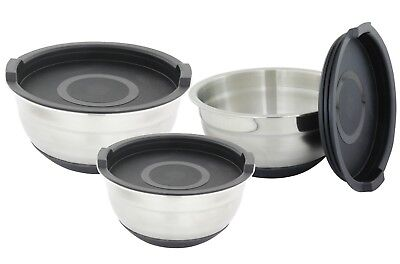 NEW D. Line Stainless Steel Mixing Bowl Set 3pc Non Slip