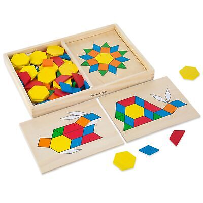 Melissa and Doug Pattern Blocks and Boards Puzzle Game - 3 Years + Kids