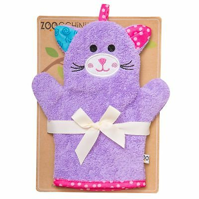 Zoocchini From Birth Newborn Baby Child Bath Mitts - Kallie the Kitten