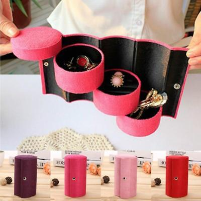 Women Velvet Jewelry Ring Bracelet Earring Container Organizer Box Case Holder J