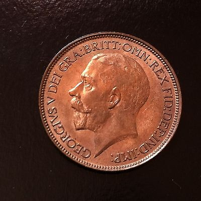 1925 UK Great Britain Half Penny  nearly full red Choice Unc (3162071Z188)
