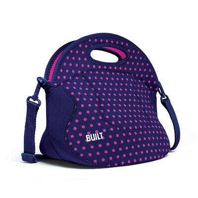 NEW Built NY Spicy Relish Lunch Tote Mini Dot Navy