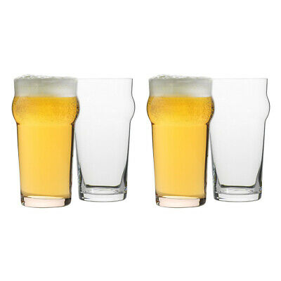 NEW Ecology Classic Pint Glass 640ml Set of 4