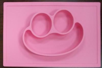 Baby Placemat Silicone Smile Mat Food Table Plate Bowl Kid Dish One Tray Piece