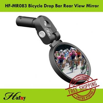 Hafny HF-MR083 Road Bicycle Drop Bar Bike Rear View Mirror High-Quality - Black