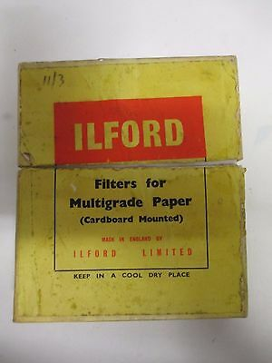 ILFORD Filters for Multigrade Enlarging Paper. Cameras (A930)