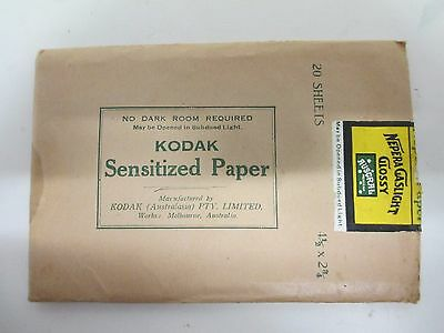 Vintage Kodak Sensitized Paper for Developing. Cameras (A943)