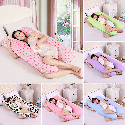 Oversized Gestational Pregnant Maternity Soft Body Pillow Case U-Shaped Sleepers