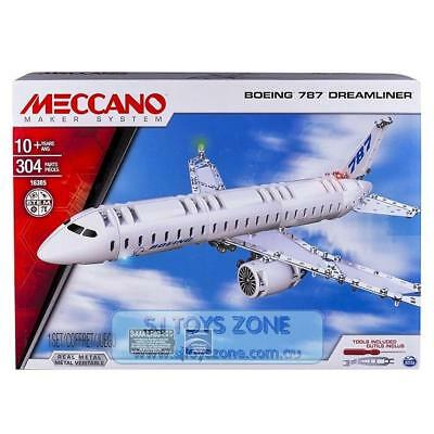 Meccano Maker System Boeing 787 Dreamliner Plane Building Set Toy for Kids