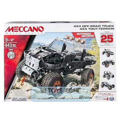 Meccano Maker System 4x4 Off-Road Truck 25 Model 443 Pieces Building Set Toy