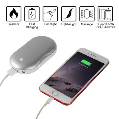 5000mAh Pocket Hand Warmer Electric Rechargeable Phone Power Bank Charger MT552