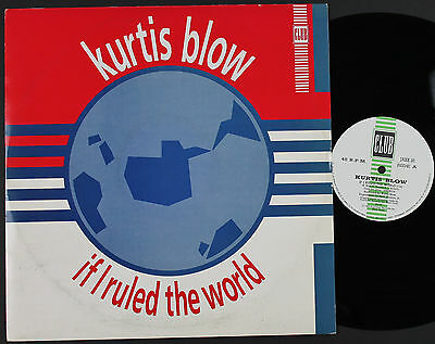 "KURTIS BLOW If I Ruled The World 12"" vinyl UK 1985 Club   (plays NM!)"