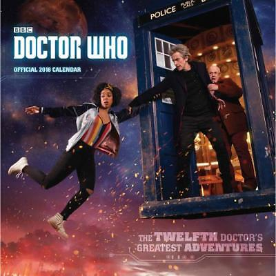 Doctor Who Calendar 2018 Wall Square Fun Fan Gift Official Licensed Product