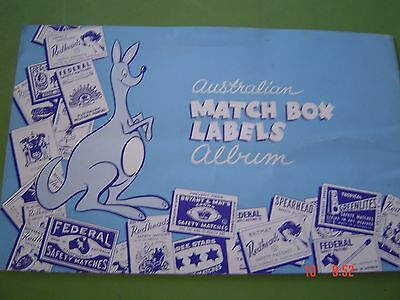 Match Box Labels Album contains Australian Federal Labels Glued In as Scans