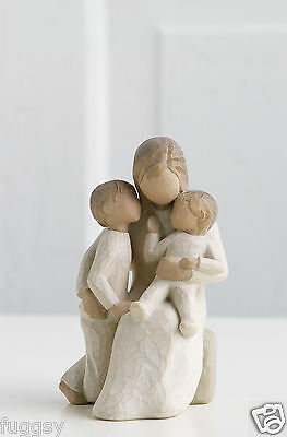 Willow Tree Figurine Quietly A Quiet Moment Mother 2 Children Susan Lordi 26100