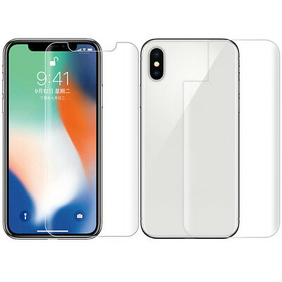 For iPhone X 8 plus 6 Nano Anti-explosion Front +Back Film Screen Protect Guard