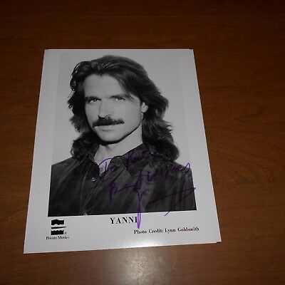 Yanni, is a Greek composer, keyboardist, pianist, and music pr Hand Signed Photo