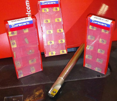 """3/8"""" SHANK-INDEXABLE-ENDMILL sale price x 30 APKT Carbide-Inserts"""