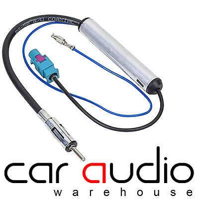 CT27AA05 Seat Toledeo 1991-2004 AMPLIFIED ISO-ISO AERIAL 75 OHMS ADAPTOR ANTENNA