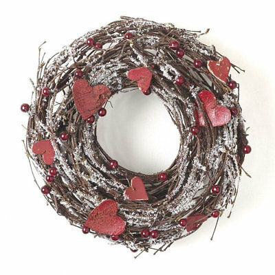 Twig and heart snow Wreath Christmas or home decoration