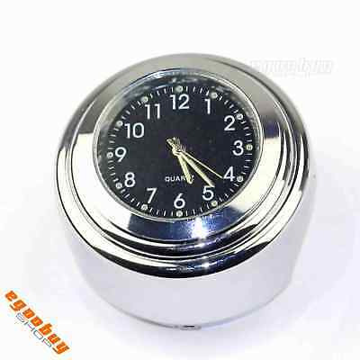 "Motorcycle 1"" Handlebar Dial Clock Chrome For Harley Davidson Sportster Dyna Hot"