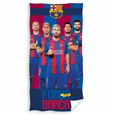 Fc Barcelona Players Towel 100% Cotton Football Team Forca Barca Neymar Messi