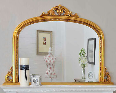 Large Wall Mirror Ornate Gold Over Mantle Antique Style 4Ft2 X 3Ft 126 X 91cm