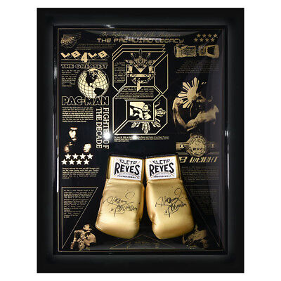 Signed Manny Pacquiao Legacy Limited Edition Cleto Reyes Boxing Glove Display