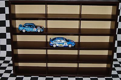 Wall Display / Show Case for up to 15, 1:43 Scale Model Cars NASCAR , F1 , BTCC