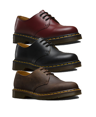 Dr Martens Mens 1461 Smooth Leather Casual Shoes 3 Eyelet Lace Up All Colours