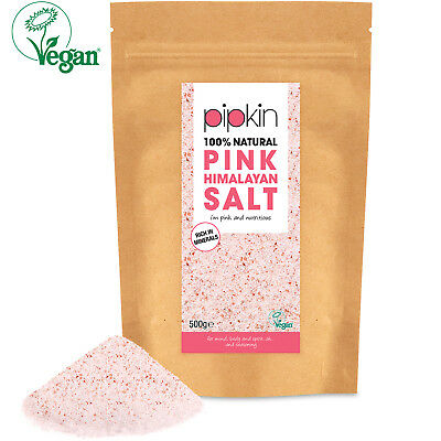 Pipkin 500g FINE Pink Himalayan Salt 100% Natural Organic Unrefined Pure Edible