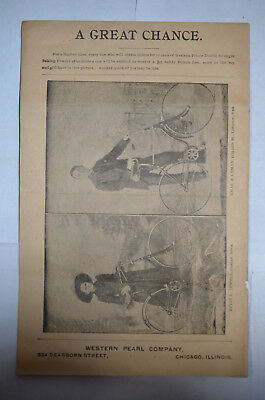 Western Prince Baking Power Special Offer Bicycle Premium, 1892, Illus