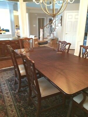 Cherry Chippendale Dining Room Set - Excellent Condition