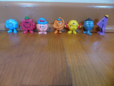 Lot of 7 Arby's Little Miss & Mr Men Vintage 1970's and 1980's