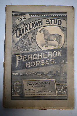Oaklawn Stud Percheron Horses, Dunham, Wayne, Du Page Co., IL, 1885 Catalogue