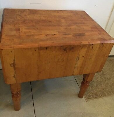 Vintage Maple Butcher Block by Michigan Maple Block Company from Kroger Store