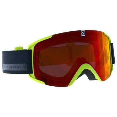 SALOMON XVIEW Skibrille Snowboardbrille (acid lime mid red) Collection 2019 NEU