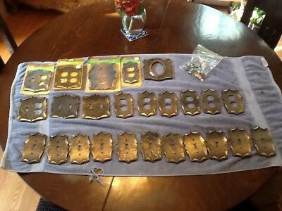 Lot of 25 Solid Brass Amerock Carriage House Outlet & Light Switch Cover Plates
