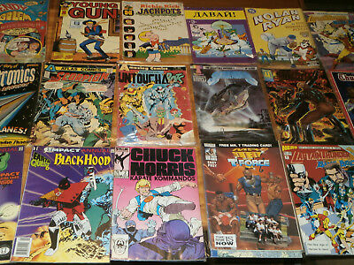 Lot of 22 Comic Books-Assorted-Some Vintage/Old-Good Condition-Hero, Earth Quest