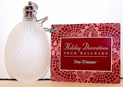 1992 NEW Hallmark Christmas Tree-Trimmer SATIN PERFUME BOTTLE Ornament with tag