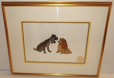 """LADY and the TRAMP"" Ltd Ed DISNEY Framed SERIGRAPH w/COA~LOT #3! NR!"