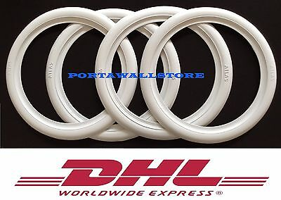 "15"" Wide Motorcycle Atlas White Wall Portawall Tyre insert Trim Set Free Ship."