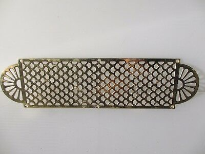 Large Antique Brass Finger Plate Push Door Handle Pierced French Vintage Gothic