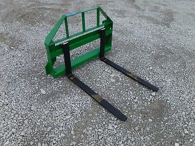 "John Deere Tractor Loader Attachment - 42"" Pallet Forks 2,500 Pound - $149 Ship"