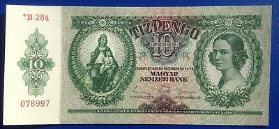 Hungary 10 pengo 1936, scarce tipe - serie with star, UNC