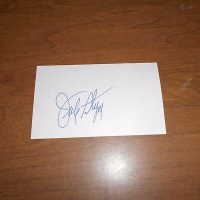 Jule Styne  songwriter/composer  Hand Signed Index Card
