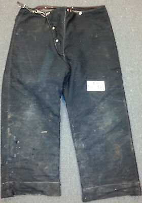 44x32 Black Pants Firefighter Turnout Bunker Fire Gear w/ Inner Liner Globe P689