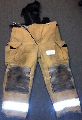 44x30 Pants Suspenders Firefighter Turnout Bunker Fire Gear Globe Crosstech P702